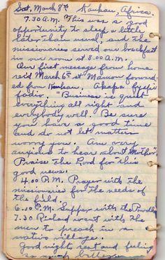 Diary Entry 1930