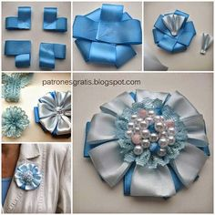 How to DIY Easy Satin Ribbon Flower Brooch thumb Nothing found for Diy Idea Picture 19 Creative Ideas and DIY Projects to Inspire Your Daily Life Satin Ribbon Flowers, Diy Ribbon, Fabric Flowers, Flower Crafts, Diy Flowers, Kanzashi Flowers, Diy Hair Bows, Silk Ribbon Embroidery, Diy Hair Accessories