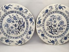 Johnson Brothers, Blue Nordic Plates,English Ironstone, Blue Nordic ironstone plates, Blue and white, English plates