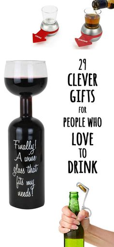 29 Clever Gifts For People Who Love To Drink...we need some of these @Jourdan Bauer Bauer Bauer Newman