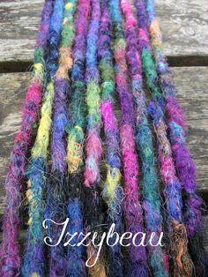 Sunset Rainbow crochet dreads by Izzybeau #Dreads #Izzybeau