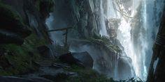 Waterfall Pathway Concept Art from Ghost of Tsushima #art #artwork #videogames #gameart #conceptart #illustration #ghostoftsushima #environmentdesign #environmentart #ps4games Ghost Of Tsushima, Spirit World, Image Title, Environment Design, Environmental Art, Optical Illusions, Asteroid Belt, Pathways, Rpg