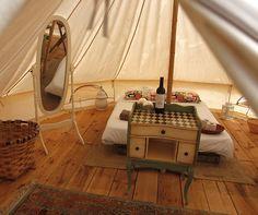Das Dreamsea Surfcamp Frankreich Unterkunft im Glamping Zelt