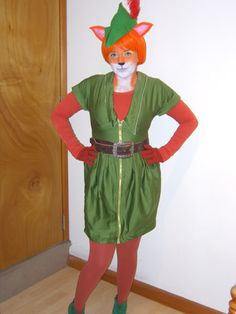 Robin Hood.  I took theatrical makeup in college.  I could totally do this.