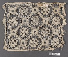 16th C Italian embroidered net