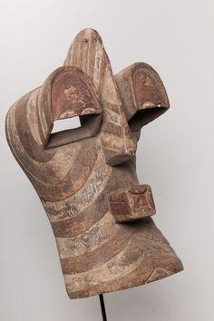 Songye Kifwebe Face Mask, D.R. Congo, African Tribal Art