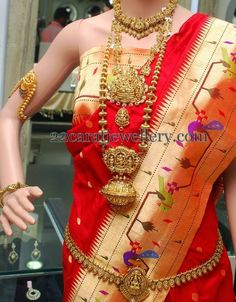Jewellery Designs: Nakshi Mala and Mango Vaddanam