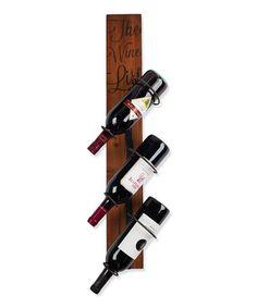 Look what I found on #zulily! 'The Wine List' Wood Bottle Rack #zulilyfinds