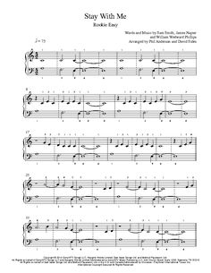 Stay With Me by Sam Smith Piano Sheet Music   Rookie Level