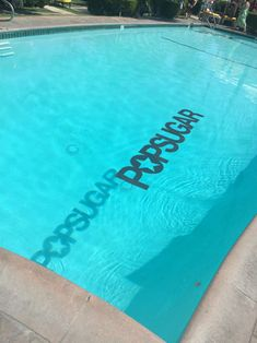 A floating logo in the pool cast a subtle shadow that echoed the brand message.  Photo: Alesandra Dubin/BizBash