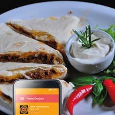 Já comeu as quesadillas do Chilis? Autêntica comida mexicana ;)  #Delivery #FomeDemais #ComidaMexicana