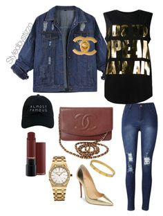 """Suppa!!"" by stylingbystizzo on Polyvore featuring moda, Chanel, Balmain, Audemars Piguet, Christian Louboutin, Cartier e Nasaseasons"