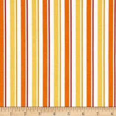 Universal Despicable Me 1 in A Minion Stripe Orange from @fabricdotcom  Designed by Universal Studios and licensed to Quilting Treasures, this cotton print is perfect for quilting, apparel and home decor accents.  Colors include orange, yellow and white.
