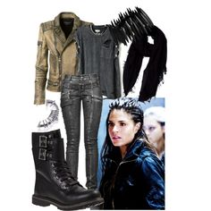 Octavia Blake by trisciagott on Polyvore featuring polyvore, fashion, style, Balmain, Timberland, Pieces, Faliero Sarti, modern, clothing and the100