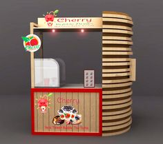 Interior / Booth Design Food & Beverage - Re-Desain Counter Booth Cherry Bubble Drinks - #6