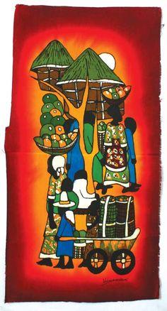 Kenyan Batik Paintings by GhanaStyle on Etsy