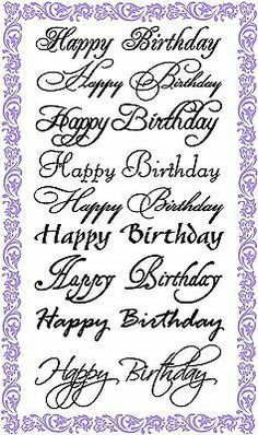 Happy Birthday Calligraphy Set Clear Stamps Sheet / Greetings Wishes Decorative 21st Birthday Quotes, Happy Birthday For Her, Happy Birthday Greetings, Birthday Wishes, Birthday Images, Happy Birthday Writing, 21 Birthday, Birthday Ideas, Birthday Cards