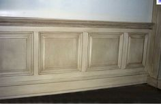 antique your wainscoting by glazing