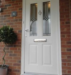 white composite front door - Google Search