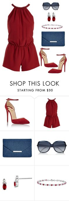 """""""Untitled #1023"""" by gallant81 ❤ liked on Polyvore featuring Christian Louboutin, Joie, Style & Co., Chloé and Kevin Jewelers"""