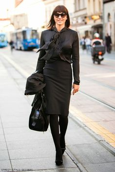 Pretty in black, daily outfit