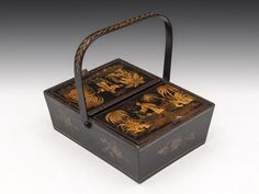 Chinoiserie Sewing Basket - Hampton Antiques