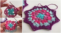 Easy To Crochet These Great Coasters In Granny Pattern