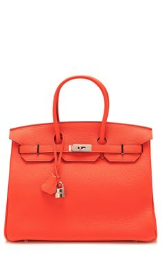 Vintage Herms 35Cm Capucine Clemence Leather Birkin by Heritage Auctions Special Collections for Preorder on Moda Operandi