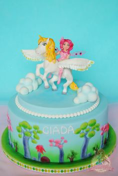 Mia and Me Cake for birthday party of Giada 4th Birthday Cakes, 6th Birthday Parties, My Little Pony Cake, Animal Cakes, Fondant Cakes, Celebration Cakes, Themed Cakes, Party Cakes, Alexandria