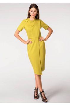 Rochie Roh Boutique mustar eleganta - DR3094 mustar