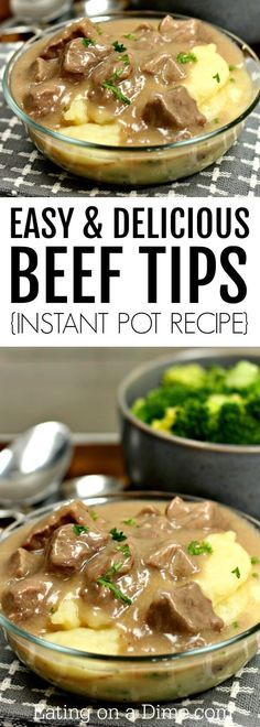 Tips Recipes This tender sirloin beef tips recipe is amazing! You will love this Instant Pot Beef Tips and Gravy recipe. Try beef tips over rice or mashed potatoes or noodles! It's absolutely delicious either way. Plus, this recipe is so quick and easy. Beef Tip Recipes, Sirloin Steak Recipes, Stew Meat Recipes, Sirloin Tips, Fast Recipes, Beef Steak, Venison Tips Recipe, Drink Recipes, Crock Pot Beef Tips