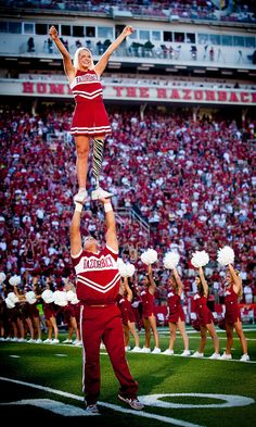 Patience Beard inspires others with amazing cheerleading routines on her prosthesis! She made University of Arkansas' elite squad as a freshman.