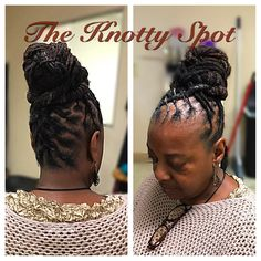 Loc Style Styled By: Maquita James Call (803)-237-1894 or Book a consultation online at: www.styleseat.com/theknottyspot  #dreadstyles #dreadlockstyles #theknottyspot #styles #masterloctician #locs #locstyles #twist #barrels #barreltwist #barreltwistupdo #locbun #scstylist #dreadstagram #ladylocstyles #dreads #locupdo #locstylesforwomen #locstyle