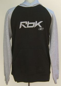 Reebok Sweatshirt 3 Piece Hoodie Tee Shirt Cinch Bag Youth Boys L Black Grey Red #Reebok #Everyday