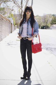 jeans jacket & black