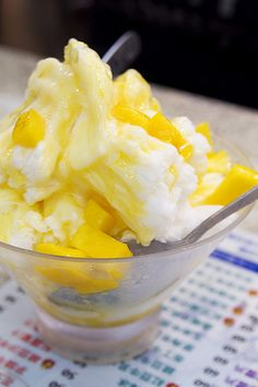 Mango shaved ice | Taiwanese Dessert