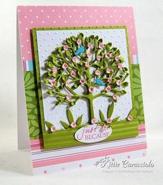 """Memory Box Arboscello Tree with Fiskars 1/4"""" flower punch.  This is so gorgeous!"""