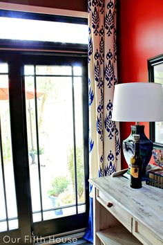 DIY Stenciled Drapes