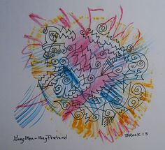 """""""Young Men - They Pretend"""" - watercolor, ink and pastel, in 2013"""
