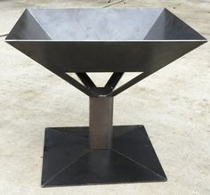 This square fire pit is ideal for your outdoor patio or backyard. THE FIRE PIT IS MADE OUT OF 3/16 THICK SOLID STEEL PLATES. The fire pits are Handmade in the USA quality. It is about 26x 26 wide at the top of the pit, about 24 tall from the floor, and about 15x 15 wide on the inside