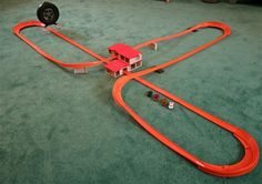 Awesome old Hot Wheels playset. Just look at all that track!
