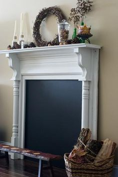 DIY Faux Fireplaces- I wonder if I can really complete this task.. We shall see..