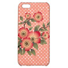 Flowers and polka dots pattern iPhone 5C covers