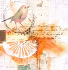 Does the birdy on your shoulder sing words of wisdom to you? http://www.stampington.com/somersetapprentice/2012/app_a12.html