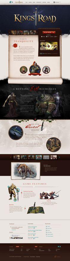 Interesting web design for video game