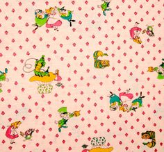 Vintage Disney Alice in Wonderland: 1970s Jersey Fabric in Pink