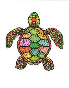 Janine Green Psychedelic Turtle Colorful Quilted by JanineGreen, $21.00