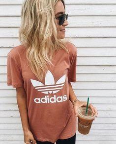 Adidas Trefoil Women's Boyfriend Tee - Blush
