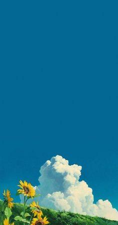 Trendy Ideas wallpaper anime scenery studio ghibli - Anime World 2020 Art Studio Ghibli, Anime Scenery Wallpaper, Nature Wallpaper, Wallpaper Ideas, Wallpaper Backgrounds, Cute Anime Wallpaper, Star Wallpaper, Trendy Wallpaper, Iphone Backgrounds