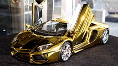 Lamborghini Aventador LP 46 Crore Rupees 500 kg 22 carat gold made Car Lamborghini Aventador, Ferrari, World Expensive Car, Police Truck, Car Tags, Good Looking Cars, Going For Gold, Gold Models, Fancy Cars
